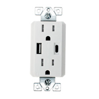 USB Outlets and Power Receptacles