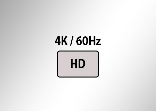 Supports up to 4K 60Hz resolutions