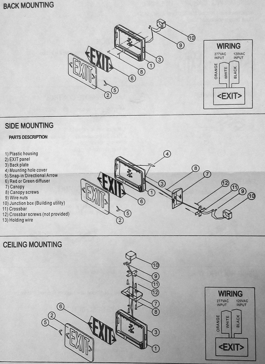 33 Exit Sign Wiring Diagram