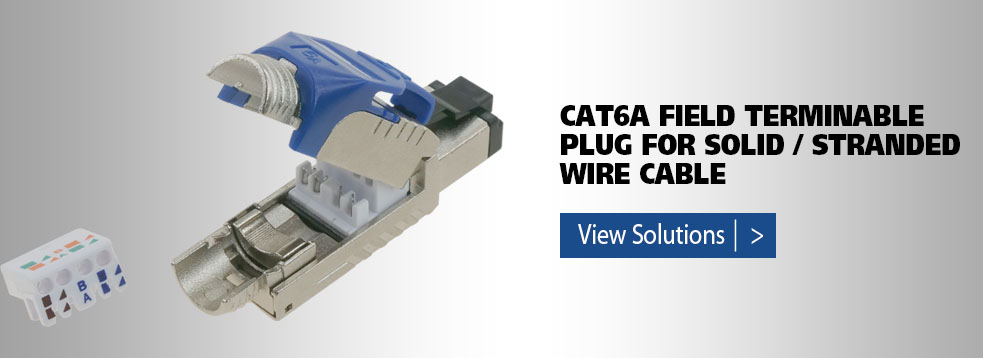 Cat6a field terminable plug