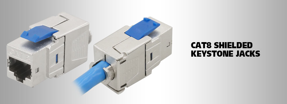 Cat8 keystone jacks