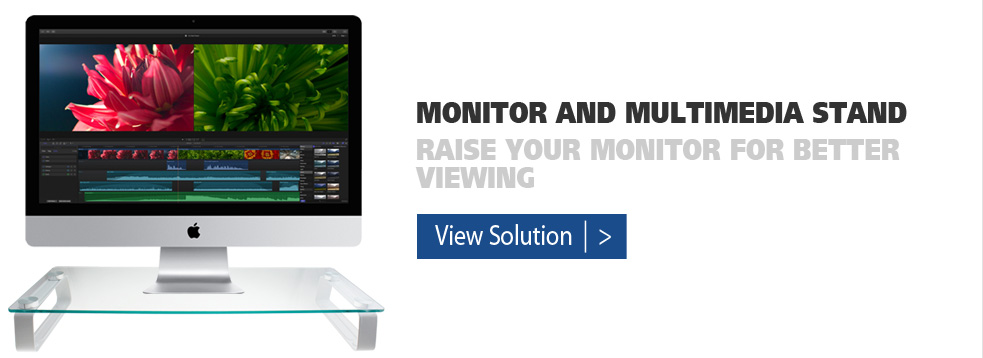 monitor and multimedia stand
