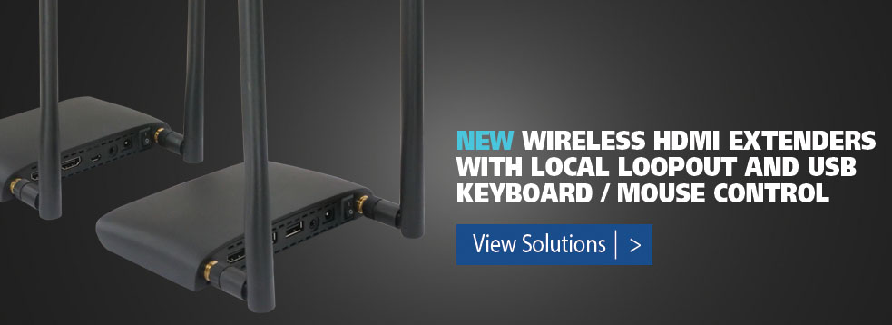 Wireless HDMI extenders