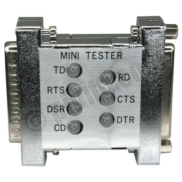 Rs232 Mini Tester For Pin 2 3 4 5 6 8 20 Db25 Male To