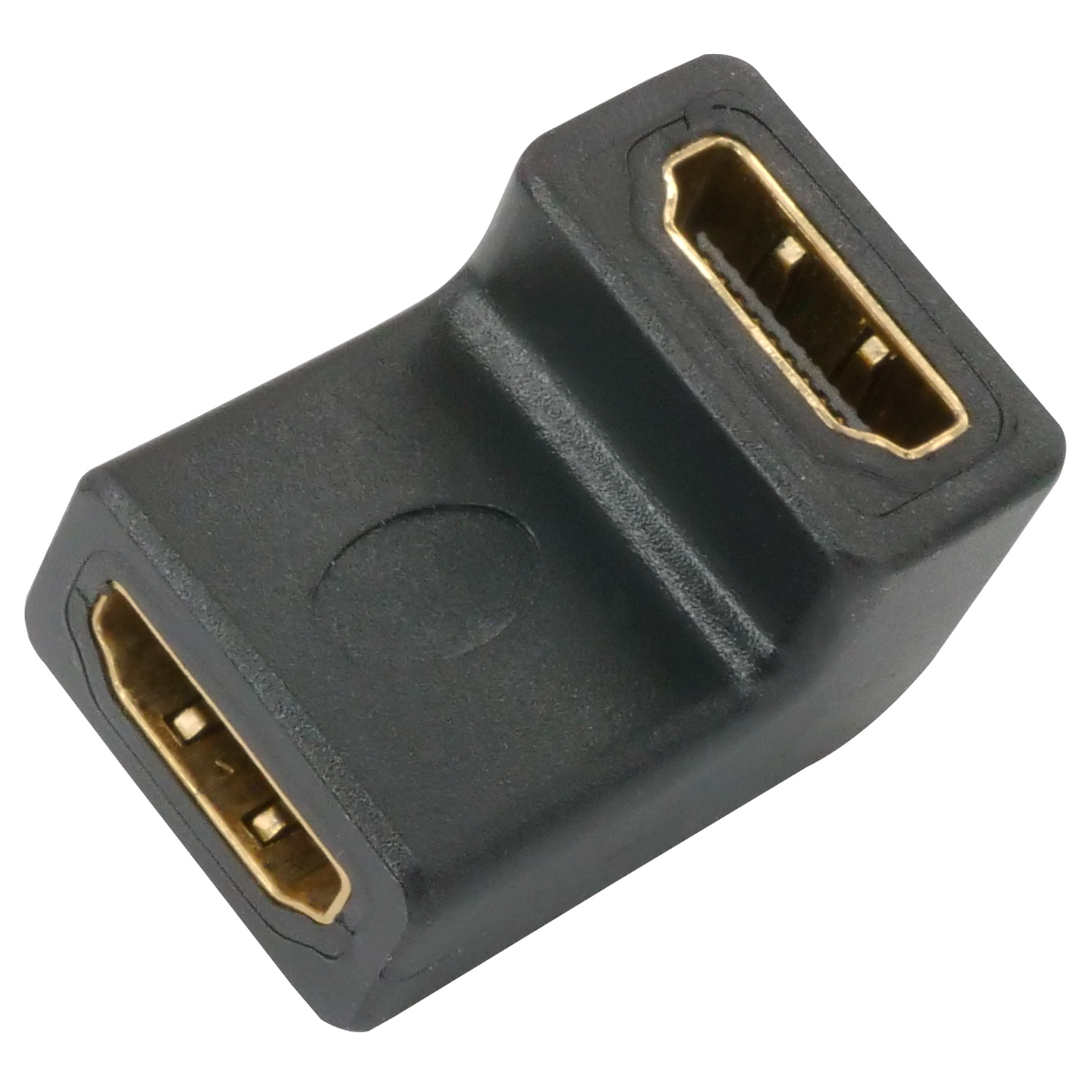 HDMI Right-Angle Female to Female Video Adapter / Gender Changer