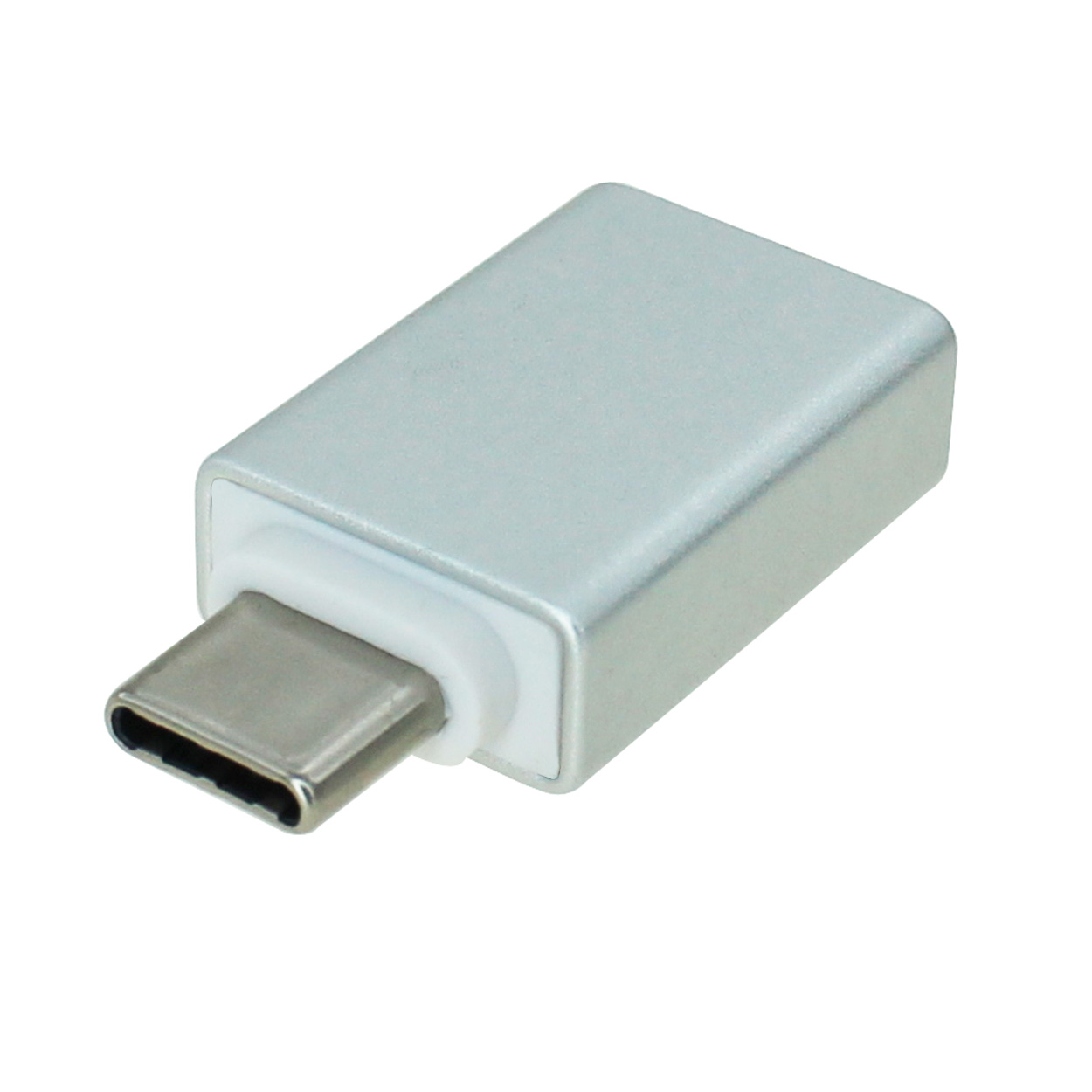 USB 3.0 USB-C Male to USB A Female Adapter, Aluminum Shell