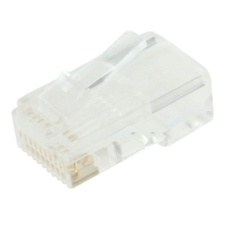 10p10c Modular Plug, Round Cable, Stranded, 50pcs/bag