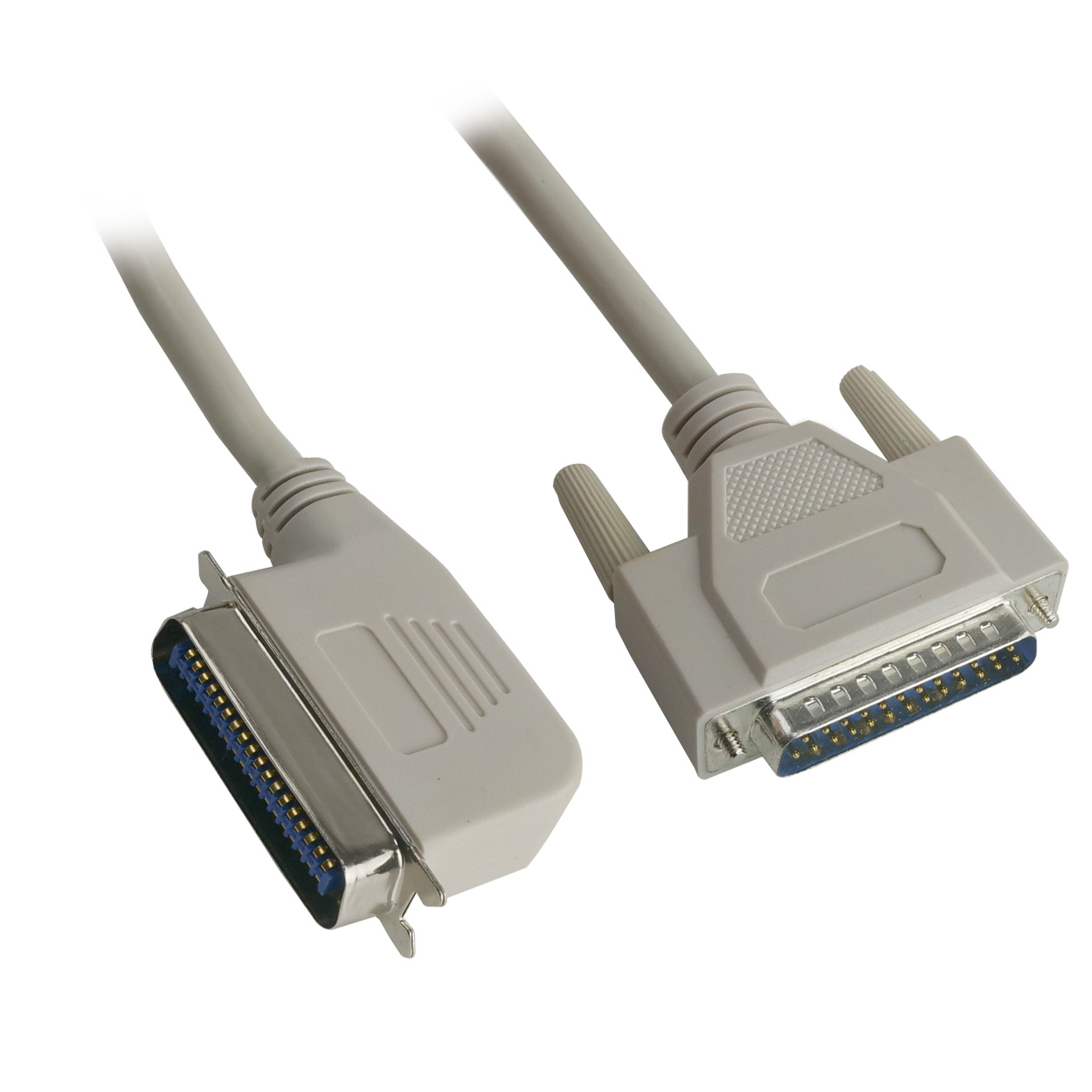 IBM parallel printer cable 25 wire, 24ft right-angle