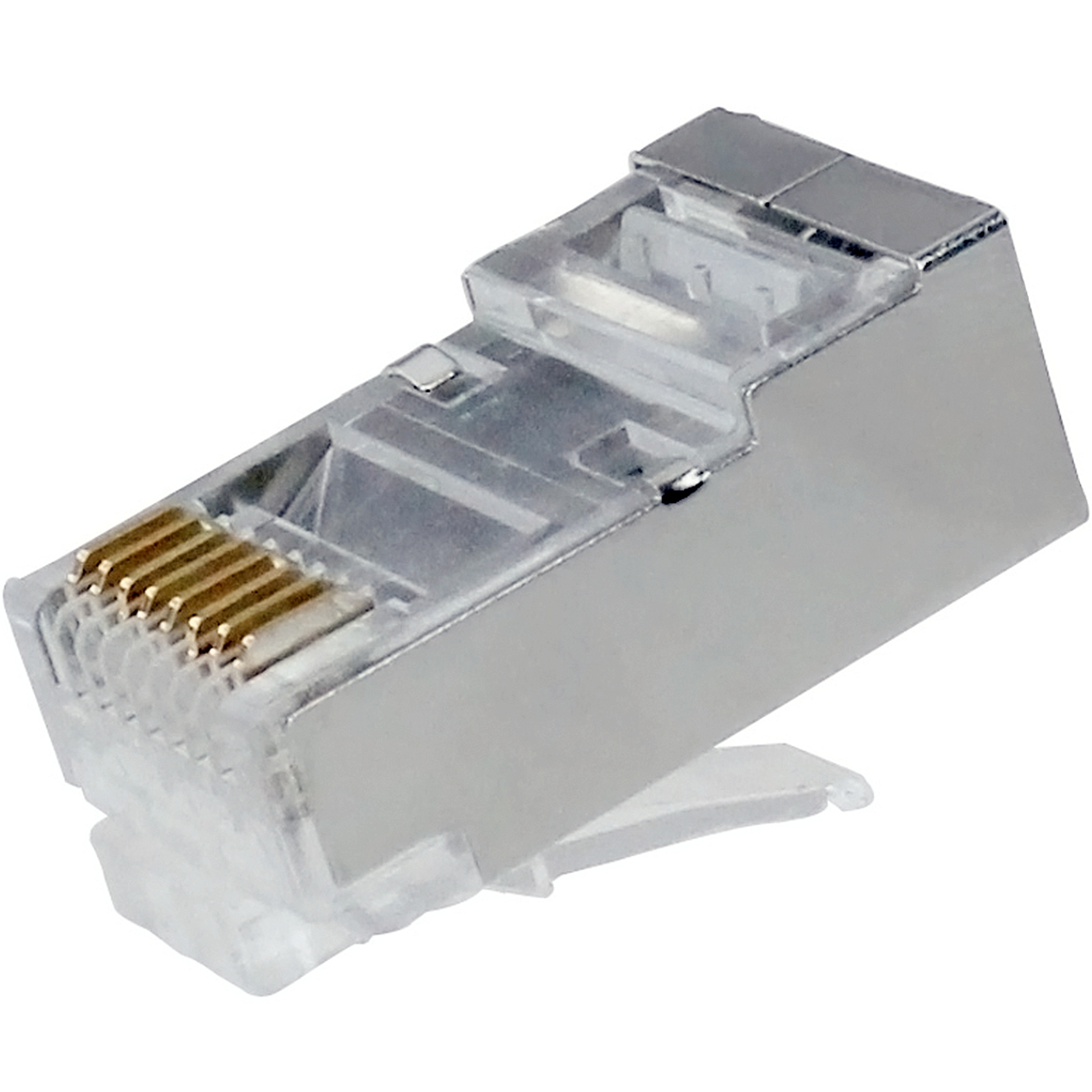 Rj45 Cat6 Cat6a Shielded Long Body Modular Plug For