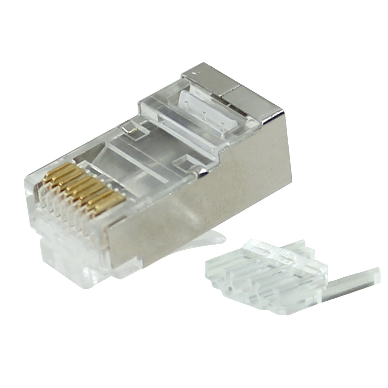 rj45 8p8c plug connector for stranded or solid cat6 wire wiring rj45 cat6 cat6a shielded long body modular plug 2pcs type for rj45 8p8c plug connector for stranded or solid cat6 wire