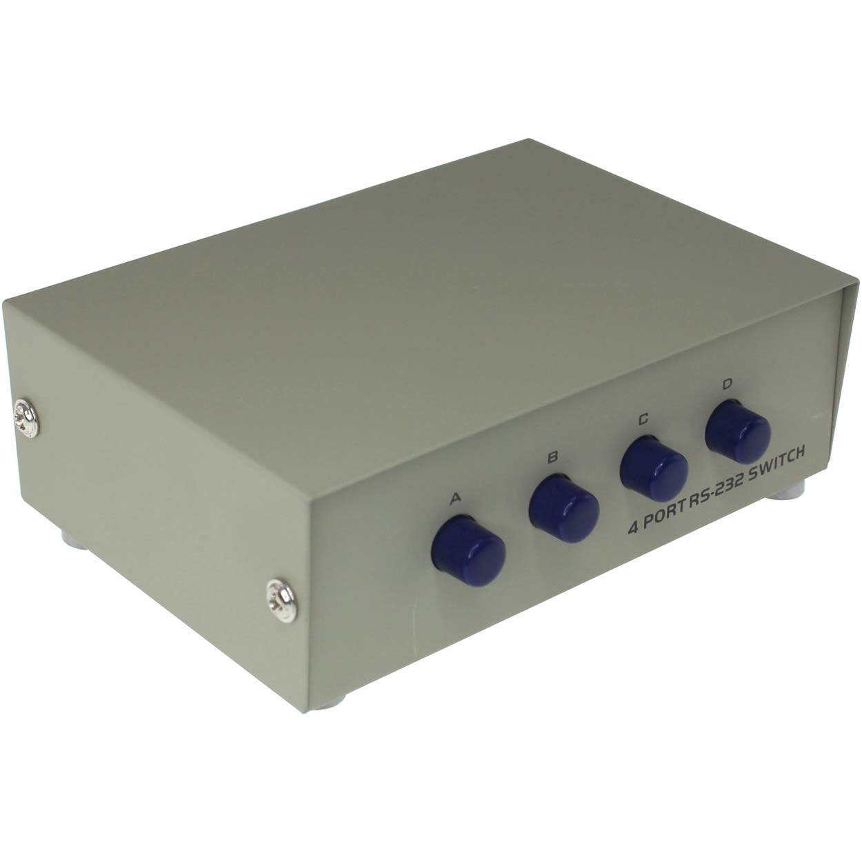 4 Port Manual DB9 Share Switch Box, Metal