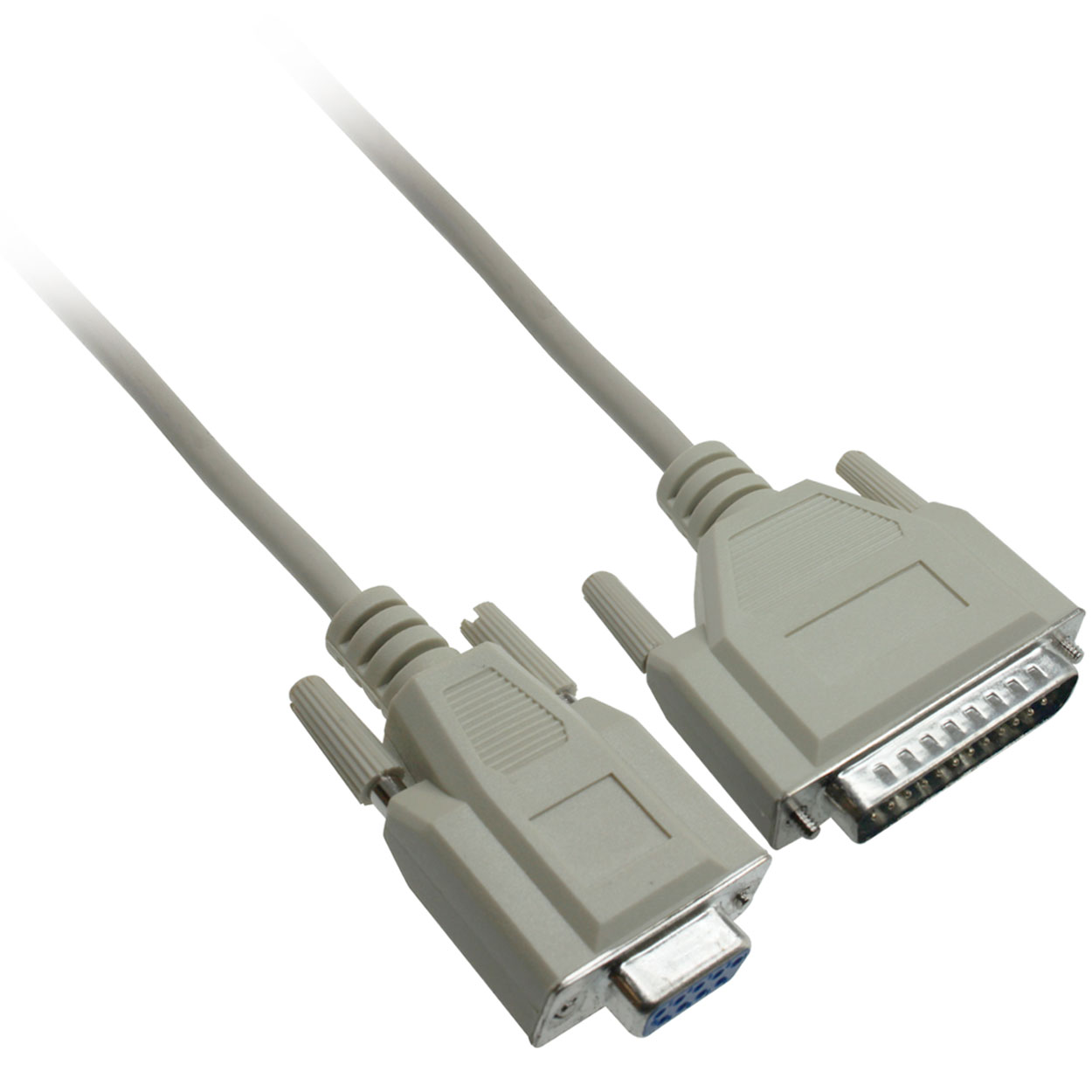 Serial Modem Cable DB9 Female to DB25 Male Cable, 6ft