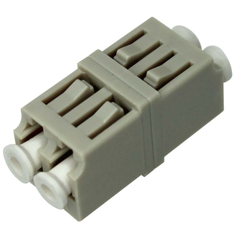 LC to LC Fiber Adapter, Duplex, Multimode, P.B. (Phosphor Bronze), Plastic - Beige