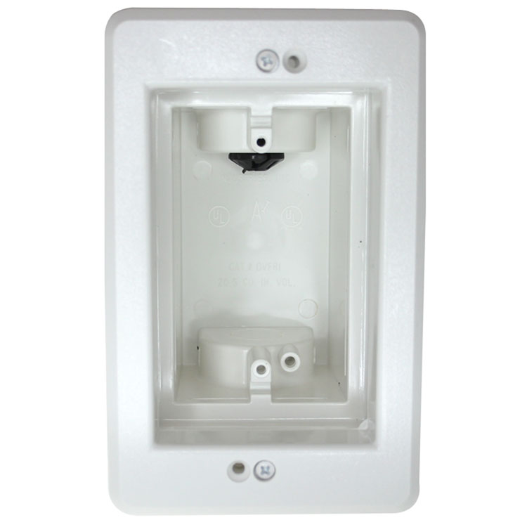 1-Gang Recessed Electrical Box - White - PI Manufacturing