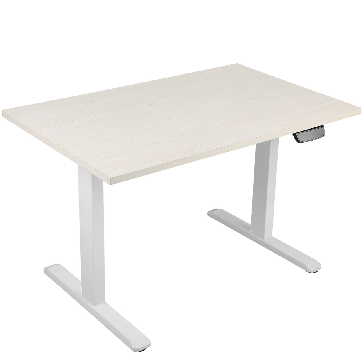 Single Motor 2-Stage Electric Adjustable Height Sit or Stand Desk Frame - White