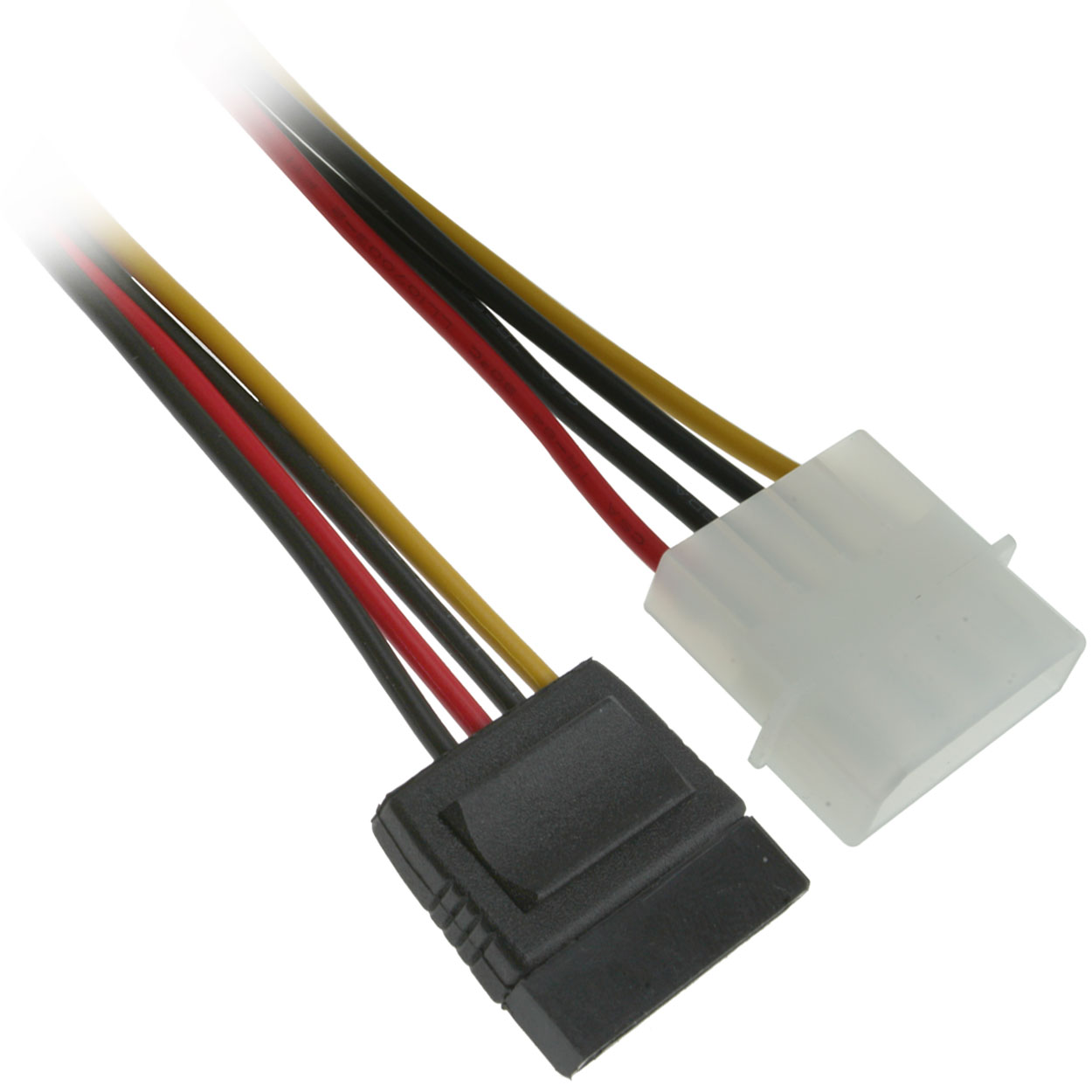 6 inch 4-Pin Molex Male to 15-Pin SATA Female Power Cable
