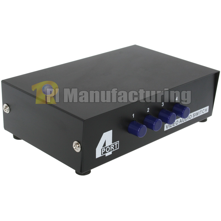 4 to 1 Composite RCA Audio Video Switch