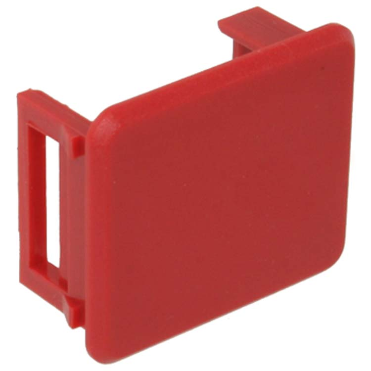 Snap In Keystone Bezel Blank Red Pi Manufacturing