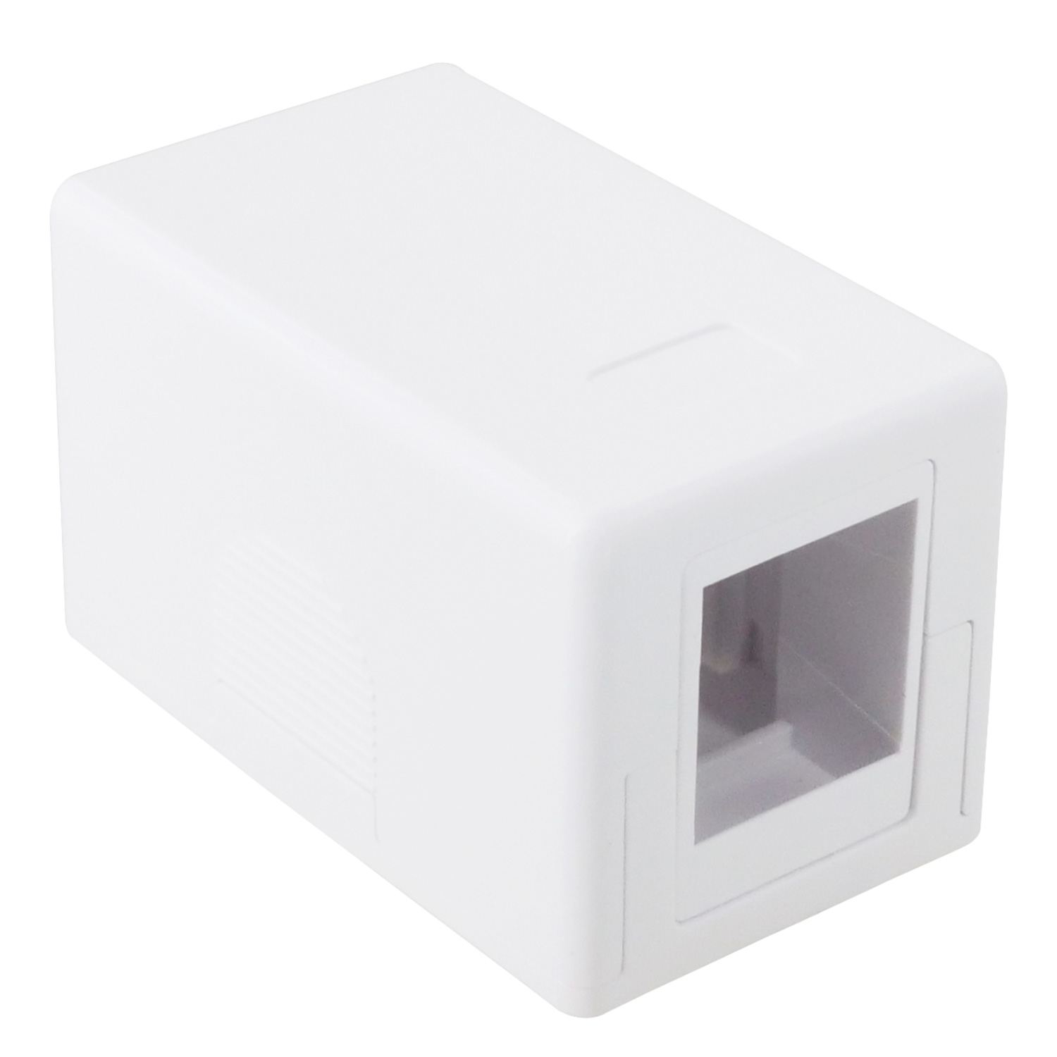 1 Port Keystone Jack Surface Mount Box - White