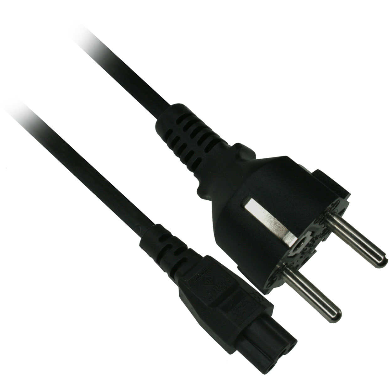 6ft 18awg Ac Power Cord Europe Cee 7 16 To Iec 60320 C6 Black Wiring Plug C13 Connector C15 Computer Socket