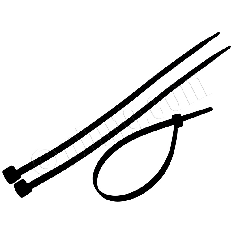 Nylon Cable Zip Tie 0.19 x 7.87 inch 50lbs, 100pcs/pack - Black