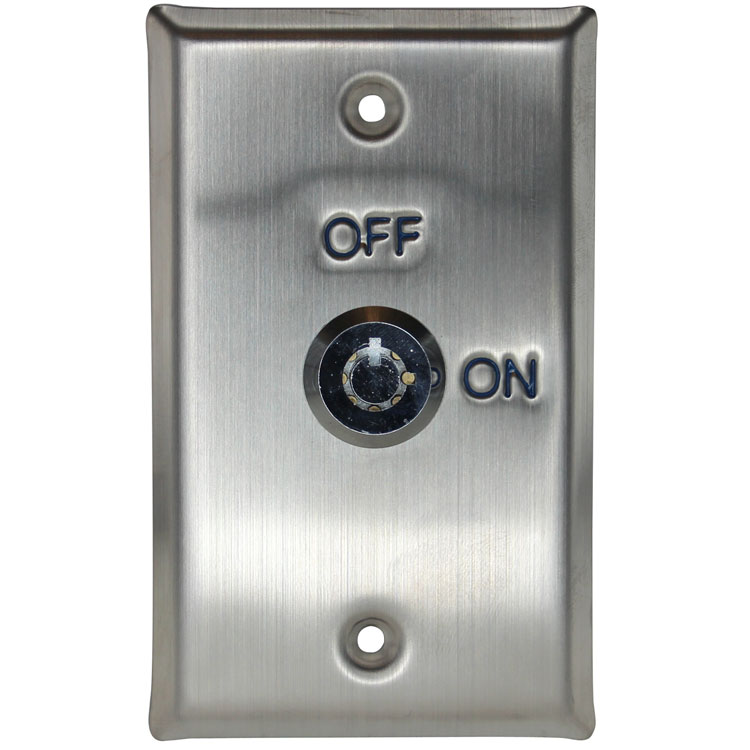 Exit Key Switch Wall Plate Rectangular Stainless Steel