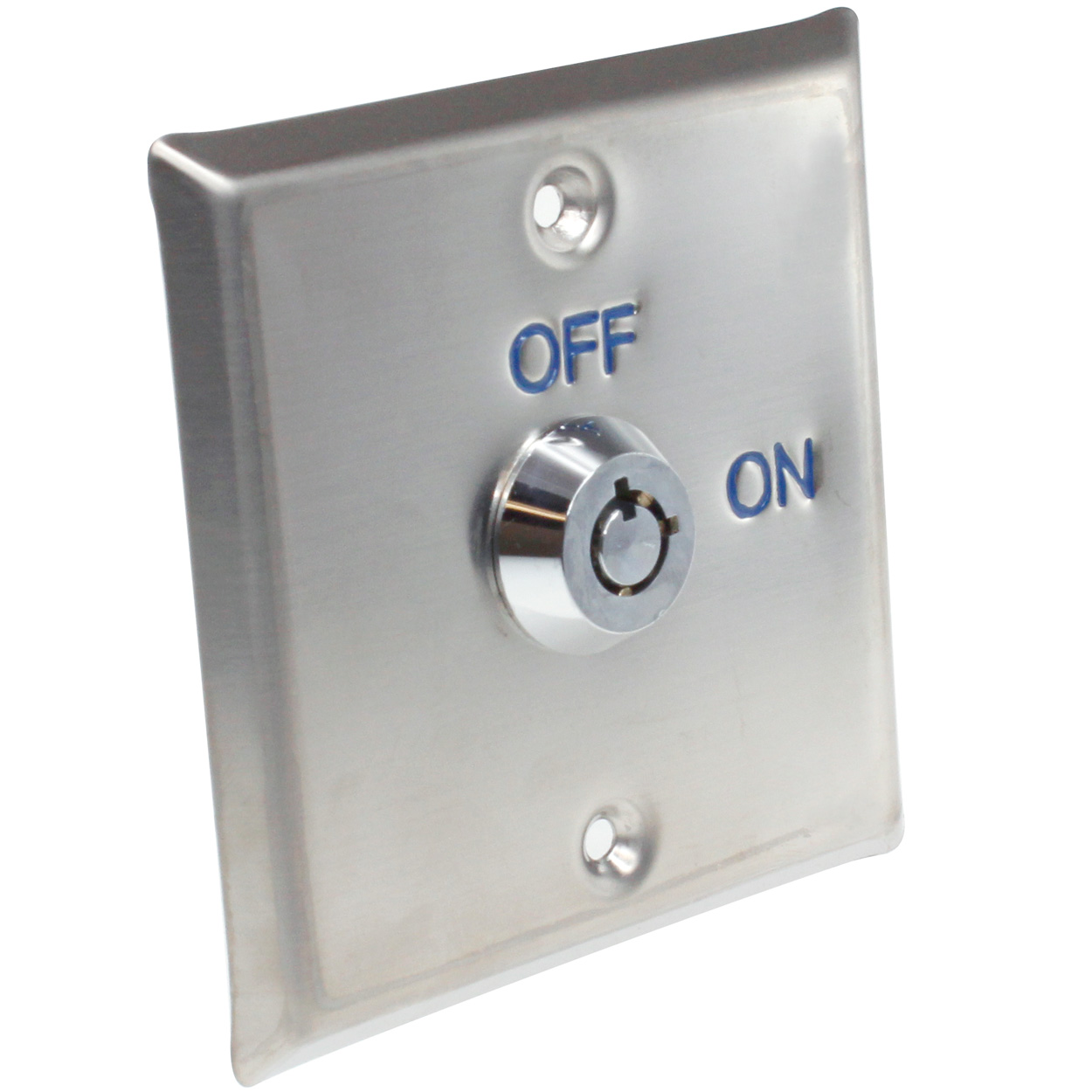 Exit Key Switch Wall Plate  Square  Stainless Steel