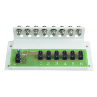 Home Structured Wiring Modular Power Distribution Box, 6 Terminals & 8 F Connectors