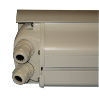 Outdoor Aluminum Camera Housing with Fan and Visor, Beige
