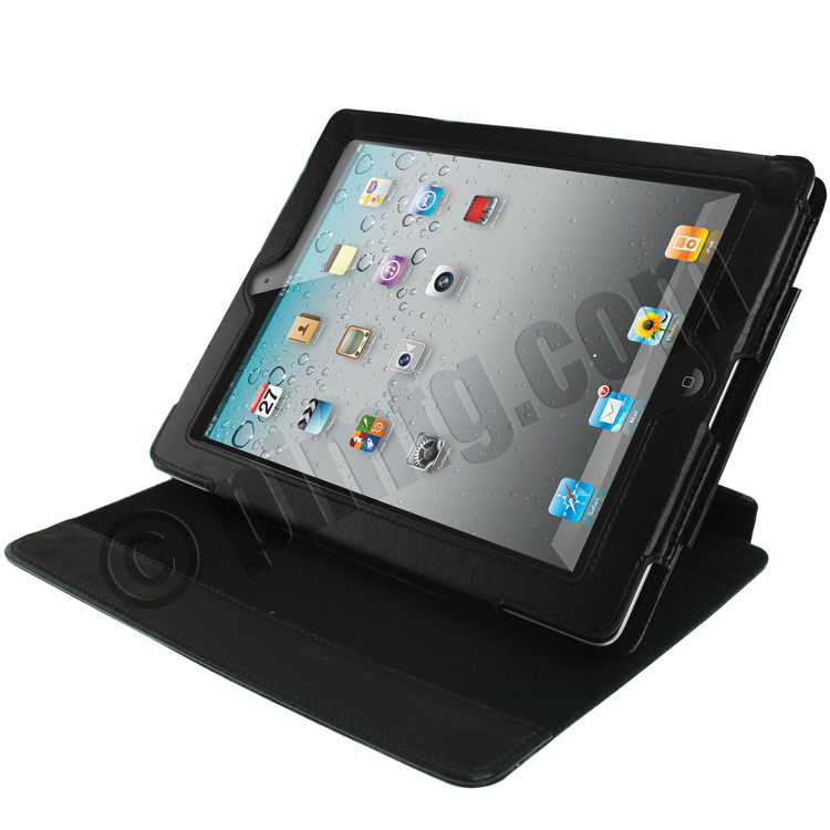 iPad 2 / 3rd Gen Case with 360 Degree Rotation and Angle Adjustment