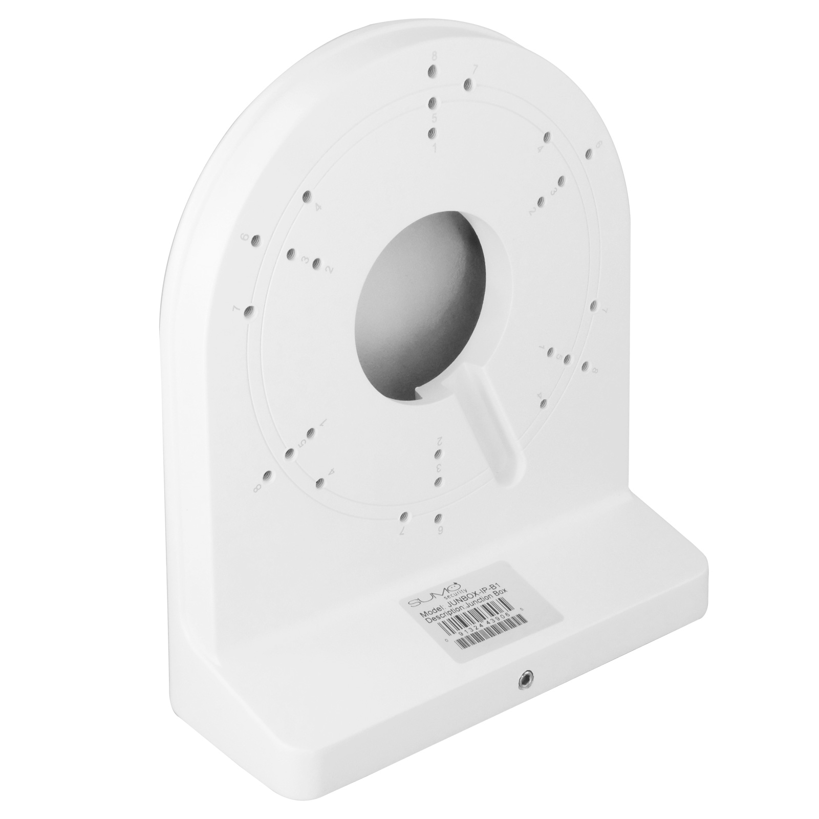 Junction Box for Big Dome Cameras, 2.95 x 6.44 x 7.35 inches - White