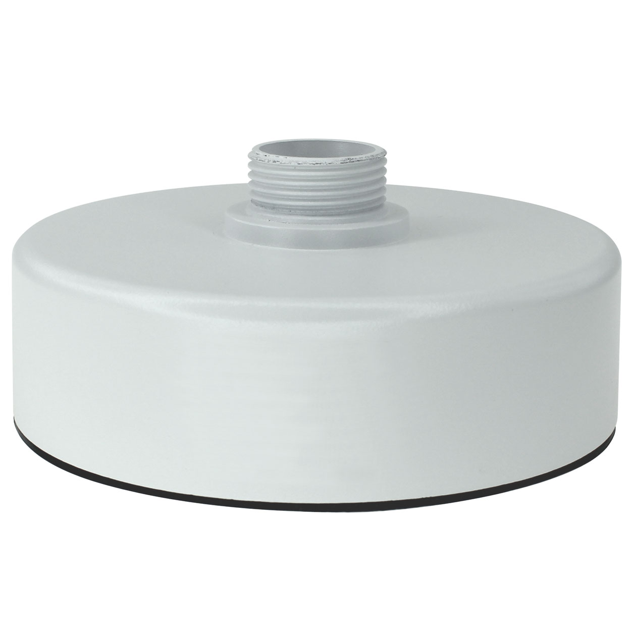 Junction Box with Conduit Hole for Vandal Proof Dome Cameras, 5.8 x 2.6 inches - White