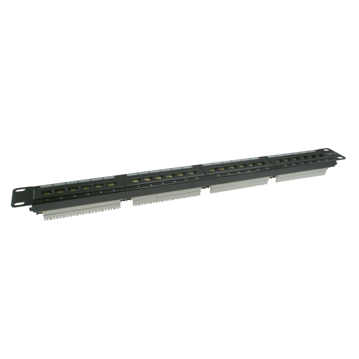 19 inch 1U 24 Port Cat6 Patch Panel, 110 Type, 568A/B