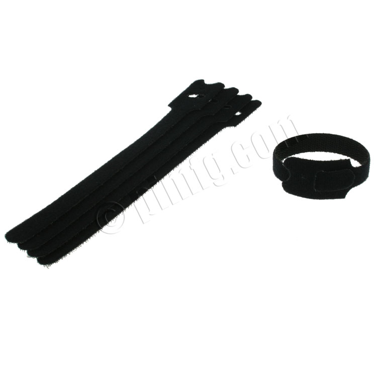 Velcro Cable Tie 0.50 x 7 inch, 5pcs/pack - Black
