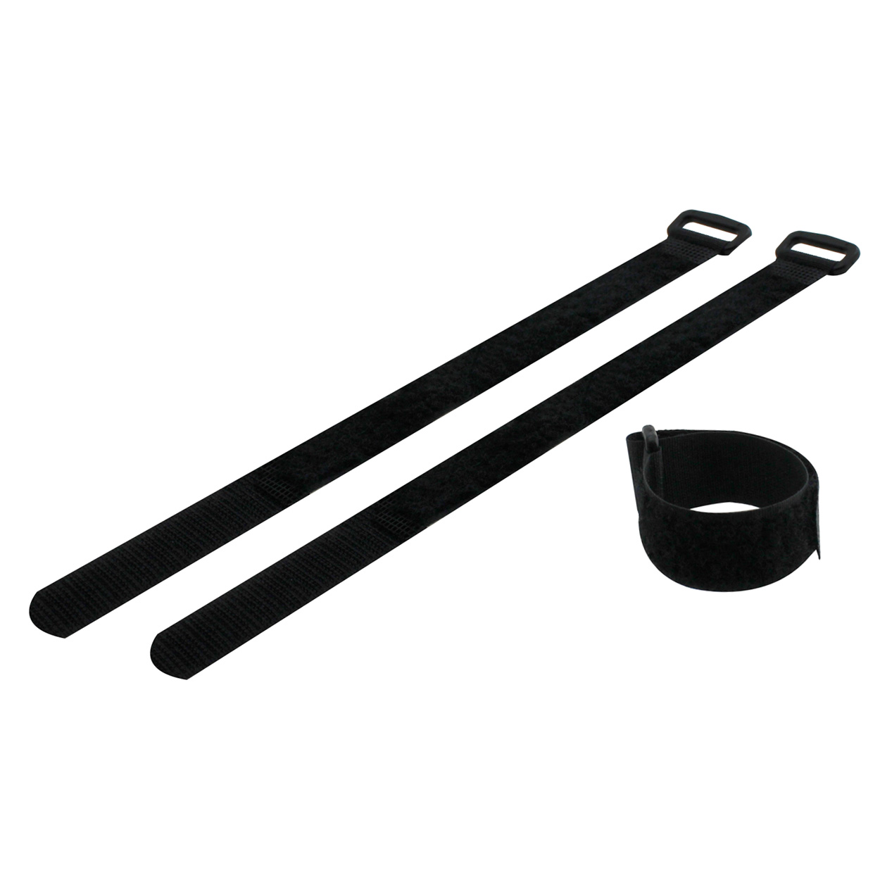 Hook and Loop Cable Tie 9.5 inch Long x 0.75 inch Wide, 5pcs/pack - Black