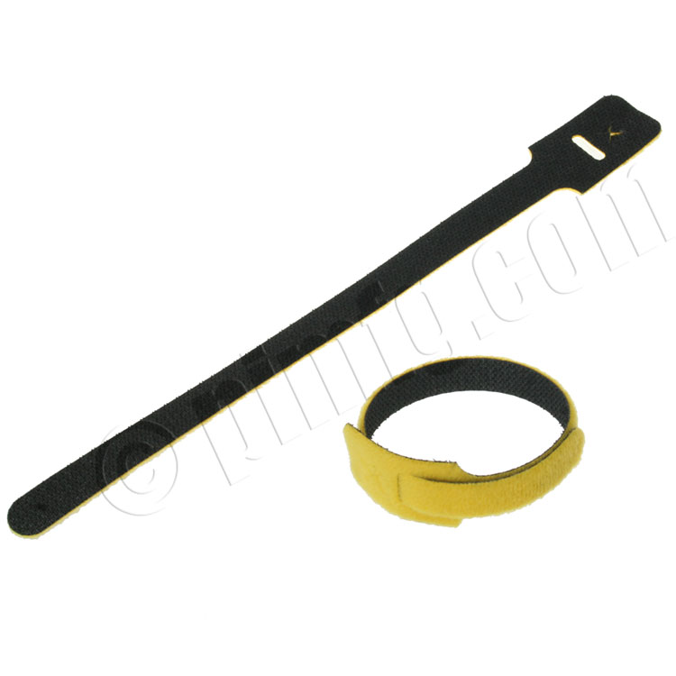 Velcro Cable Tie 0.5 x 9 inch, 25pcs/pack - Yellow