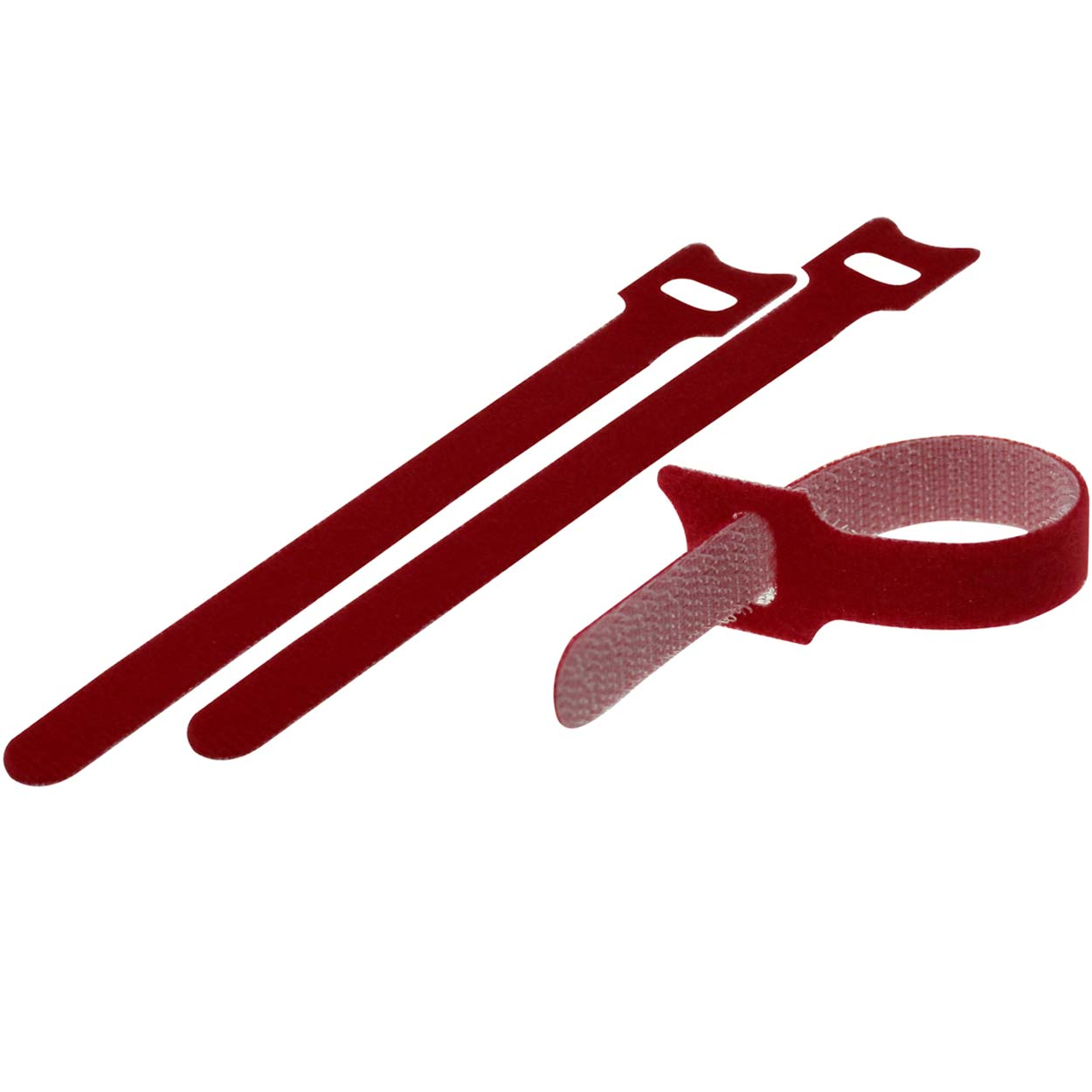 Velcro Cable Tie 0.48 x 13 inch (12 x 330mm), 10pcs/pack - Red