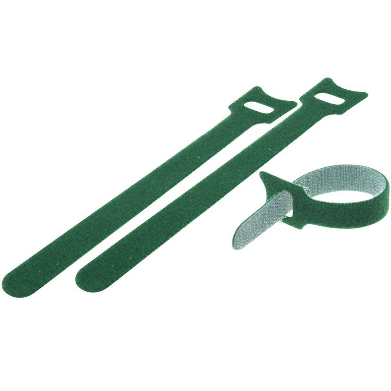 Velcro Cable Tie 0.48 x 6 inch (12 x 150mm), 10pcs/pack - Green
