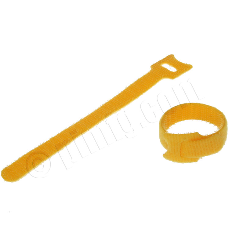 Velcro Cable Tie 0.48 x 6 inch (12 x 150mm), 10pcs/pack - Yellow