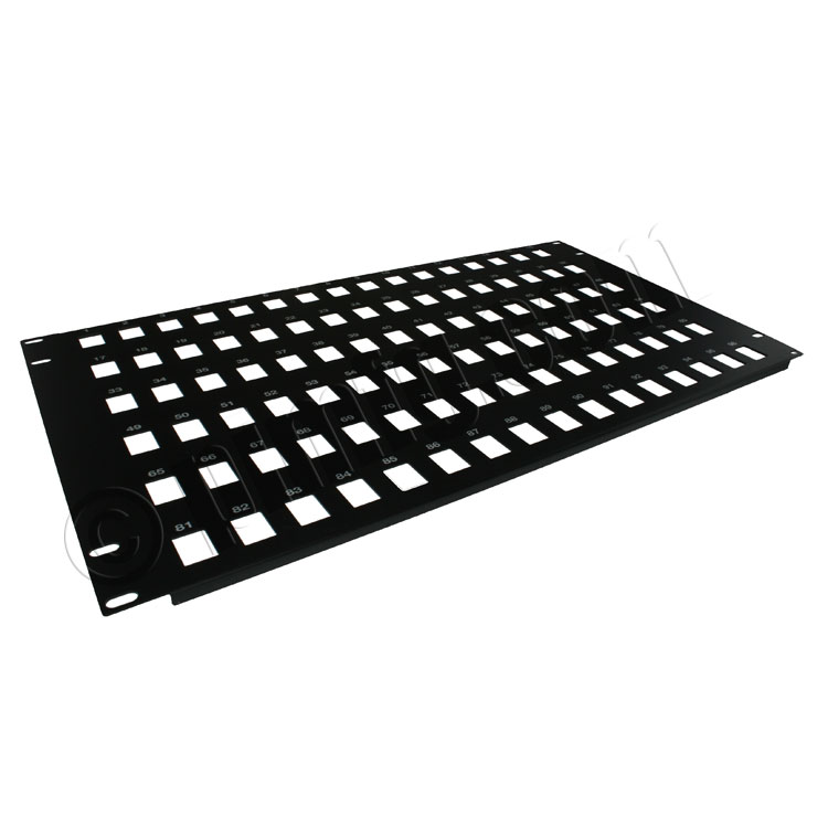 19 inch 6U 96 Port Keystone Patch Panel