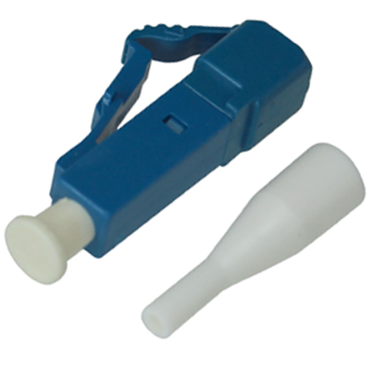 LC Single-mode Simplex Connector with 0.9mm White Boot - Blue