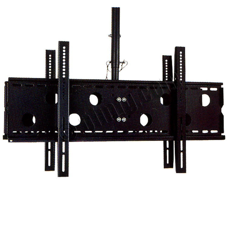 Ceiling Mount LCD Bracket for Two  LCD 42-70inch Screen Tilt 0-15 Max 220 lbs Tube Extension 20 inch to 32 inch