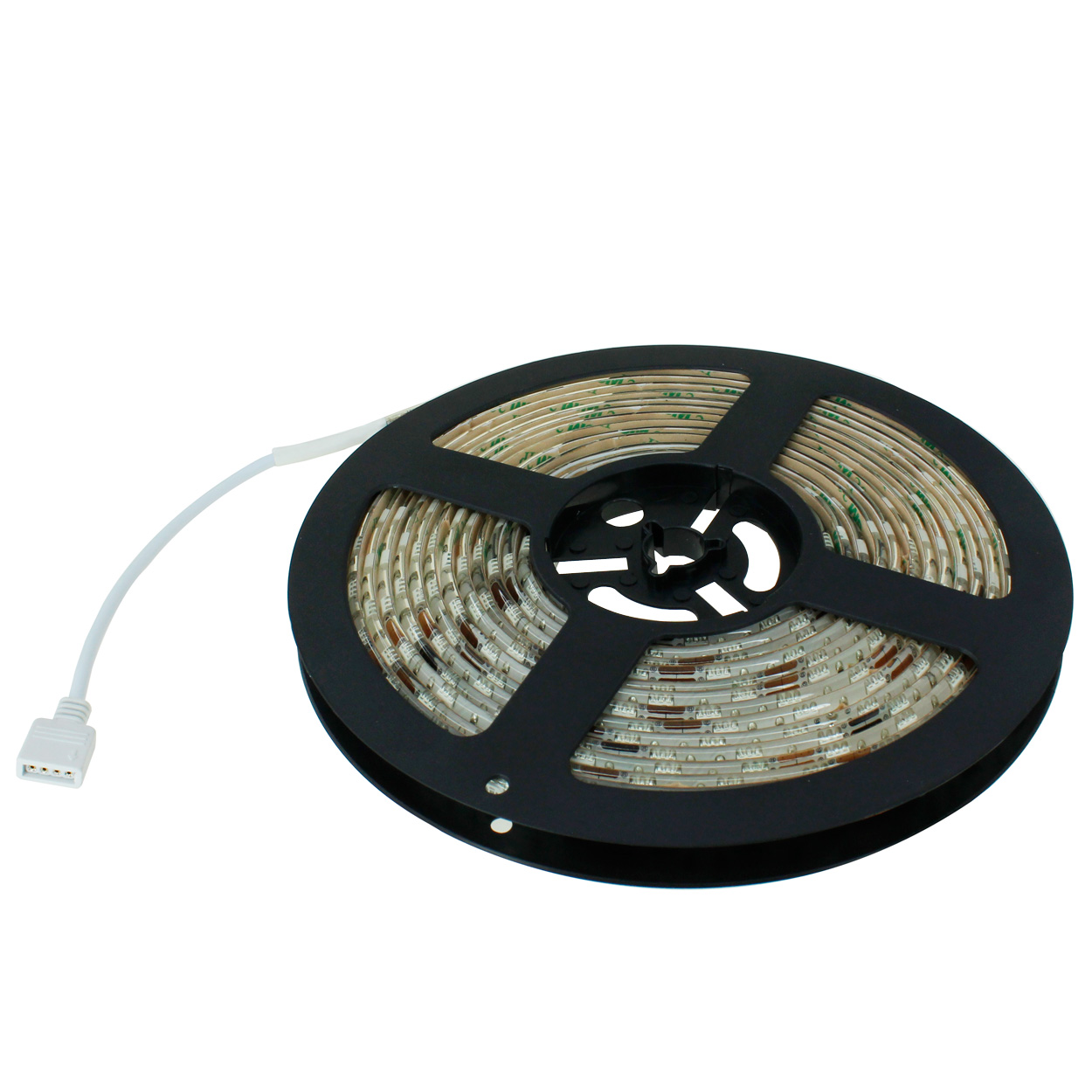 16.4ft RGB Color LED Light Strip 4-Pin Male to Female Extension, 300 Units SMD 5050 LEDs, 12V DC, Waterproof IP65