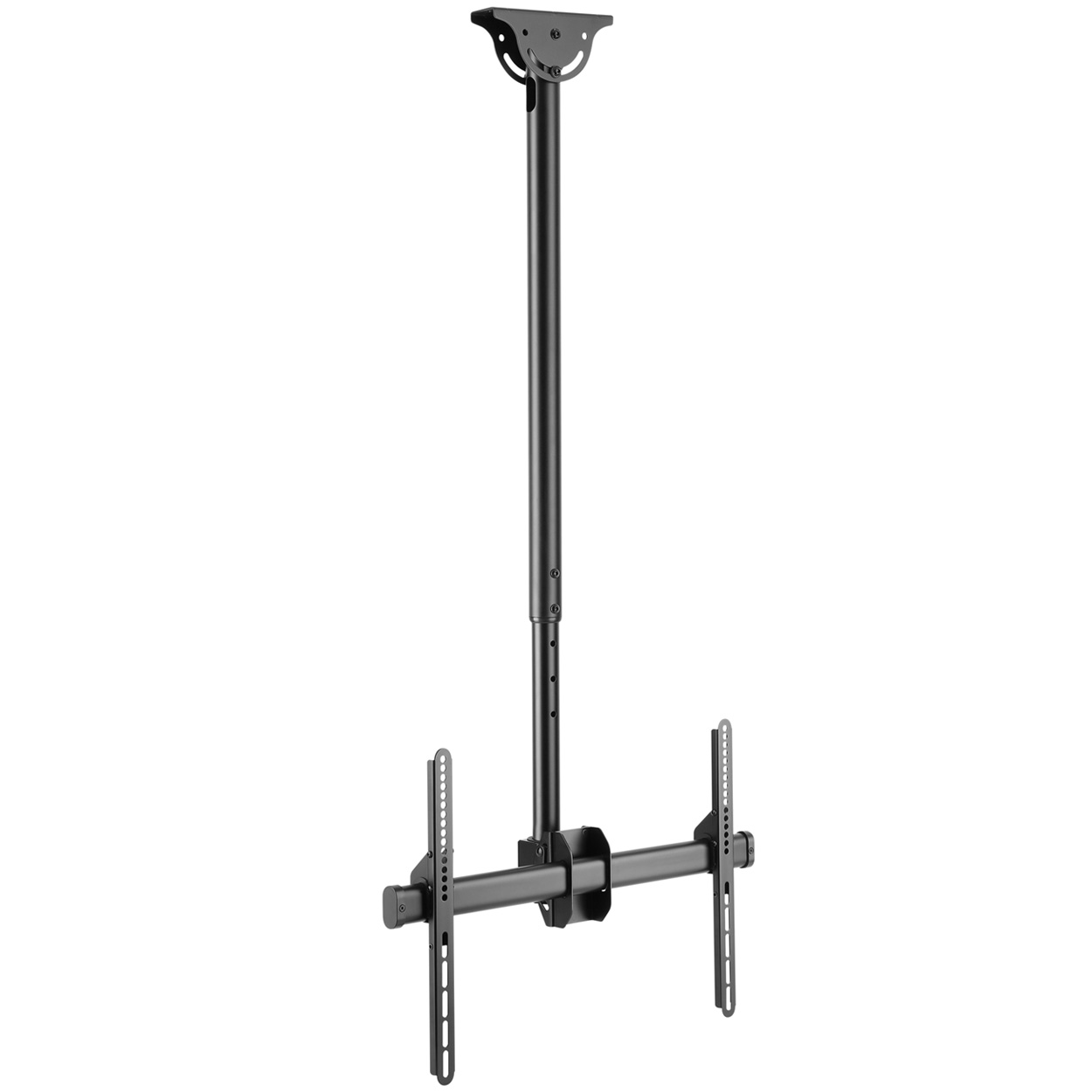Ceiling Mount TV Bracket with Tilt / Swivel and Adjustable Height for 37-70 inch Screens