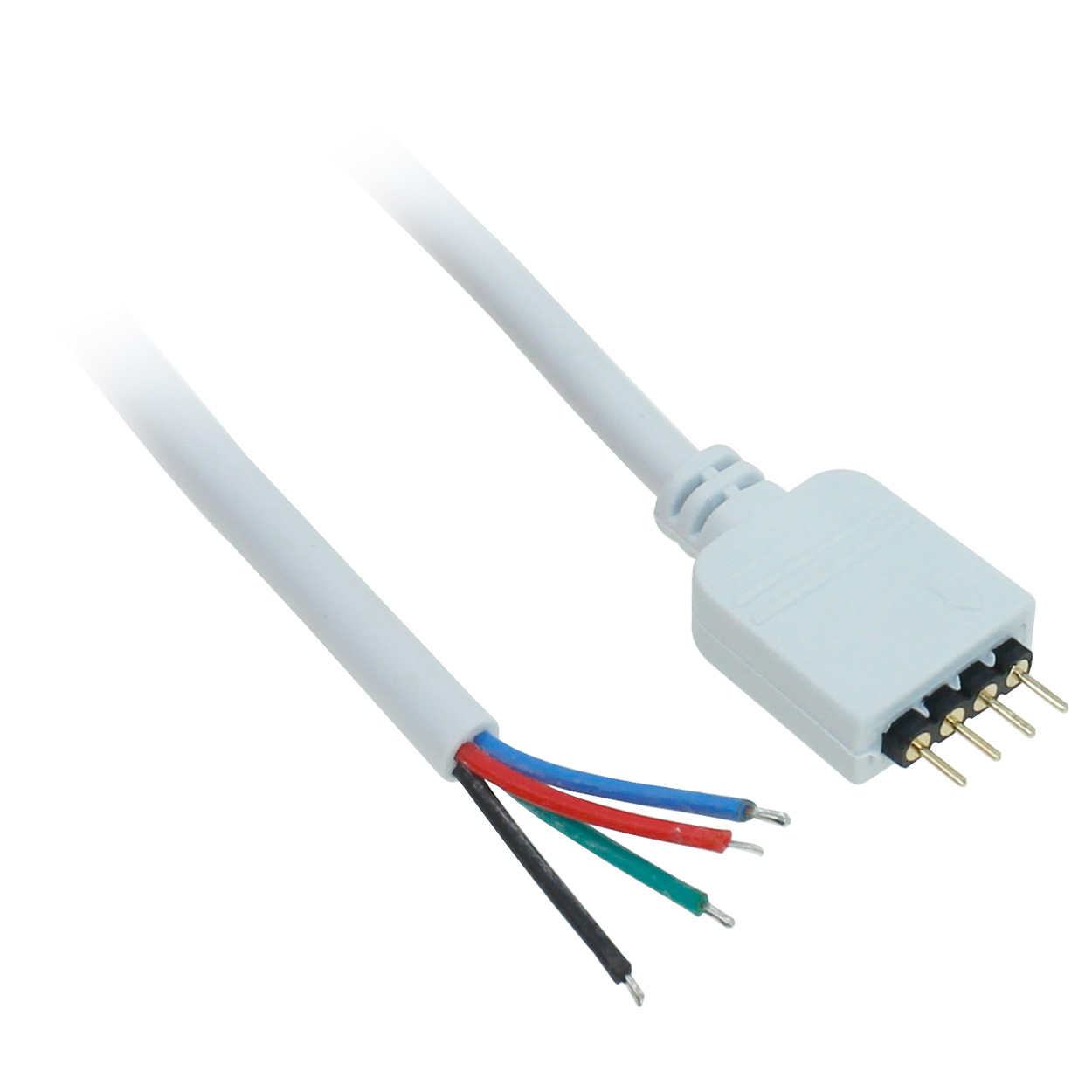 6 inch 4-Pin LED Power Connector to Open 4 Wire 18AWG