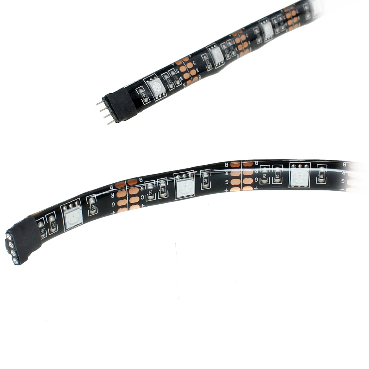 10ft RGB Color LED Light Strip 4-Pin Male to Female Extension, 5V USB, Waterproof IP65