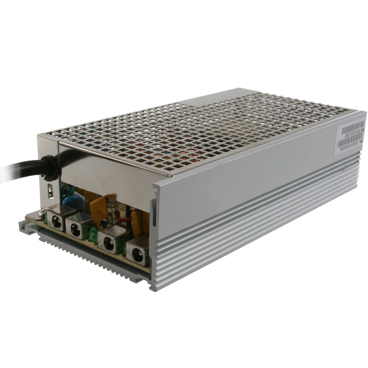 12V DC 12A Rackmount Power Distribution Box, 4 Ports, 115V AC Input, 3A Polyfuse