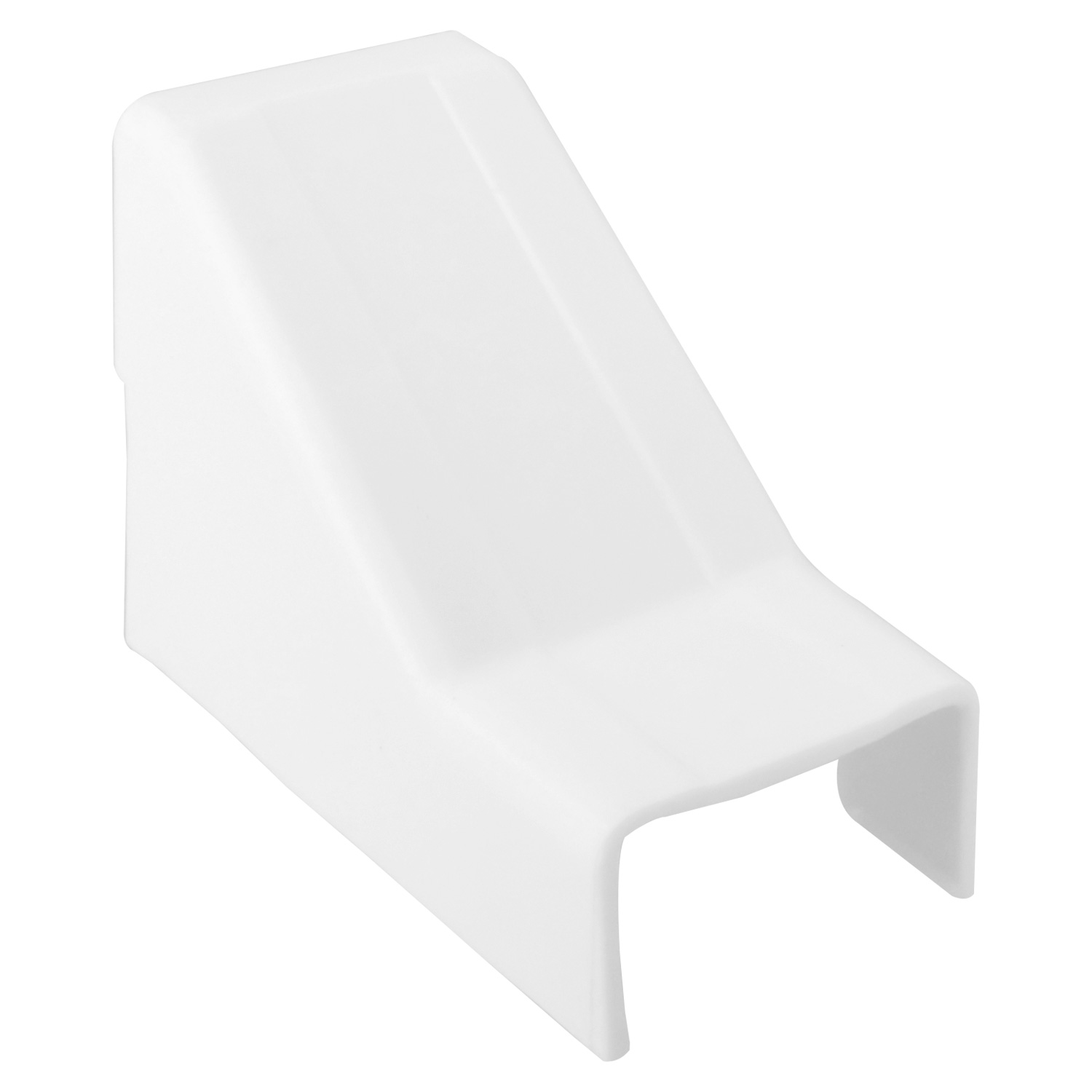 1-1/4 inch Ceiling Entry for Raceway - White, 5pcs/pack
