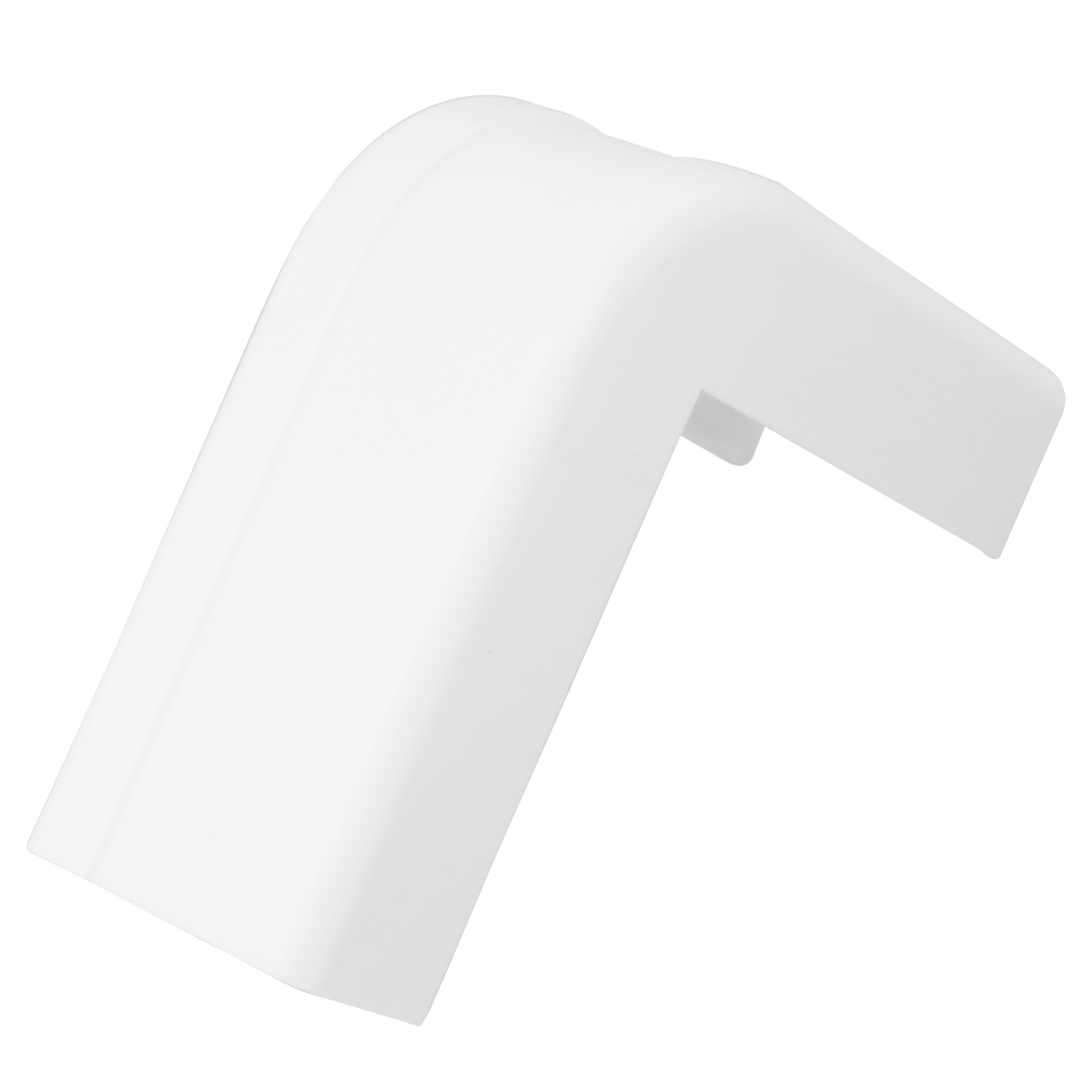 1-1/4 inch Outside Corner and Base for Raceway - White, 5pcs/bag