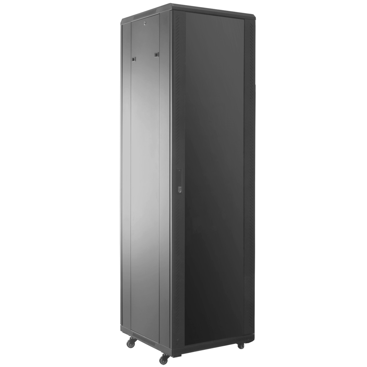 42U Rack Server Cabinet w/ Glass Door, 23.6